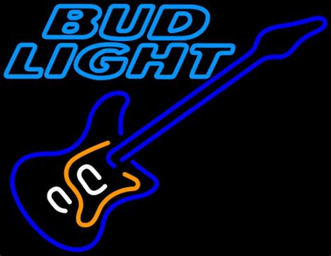 bud light neon sign bud light blue electric guitar neon sign neon