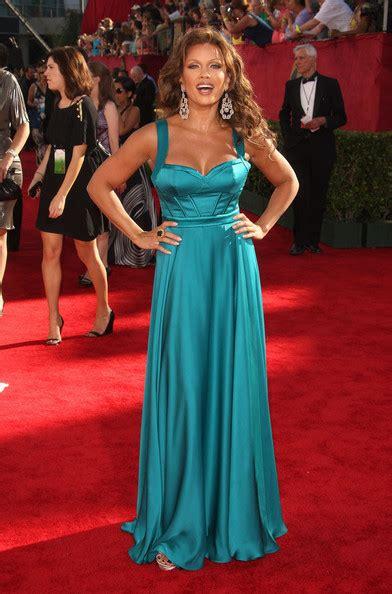 vanessa williams blue evening dress  emmy awards red