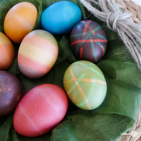 easter egg colouring tips  edible table decoration