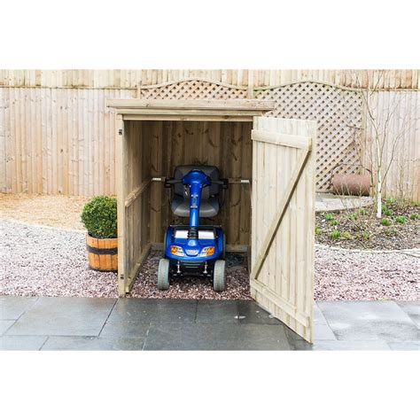 Mobility Scooter Storage Shed by Object Moved