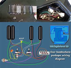 Four Humbuckers Pickup Wiring Diagram