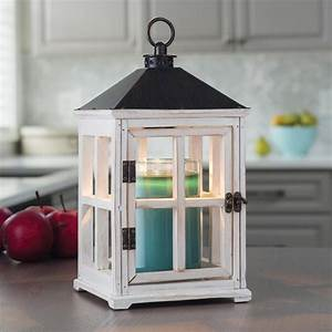 Candle warmers etc 13 in weathered white candle warmer for Kitchen colors with white cabinets with electric candle holders