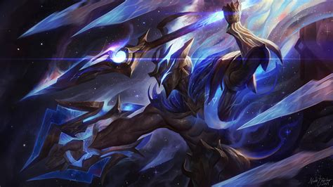Eeszsa pitched the idea to both of us and nebura worked on the concept while we gave feedback. Artist creates amazing Cosmic Emperor Pantheon and Abyssal Star Aatrox skins for a fan-made 2019 ...