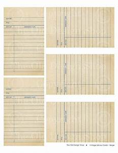 Library Checkout Cards Template Vintage Library Due Date Cards Scrapbook Printables