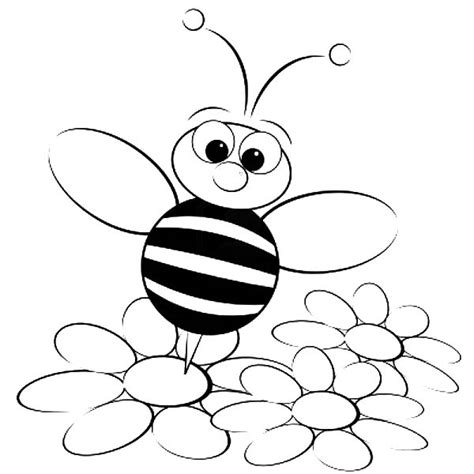 bee  flower coloring pages getcoloringpagescom
