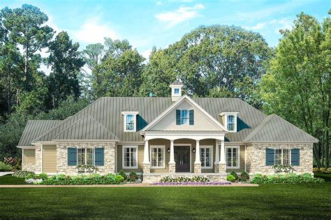 ranch home plan  pool house  architectural designs house plans