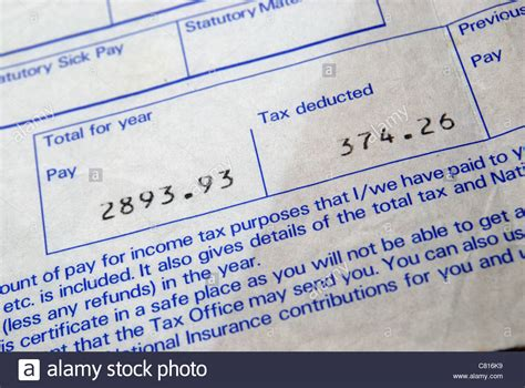 Pay Slip Stock Photos & Pay Slip Stock Images