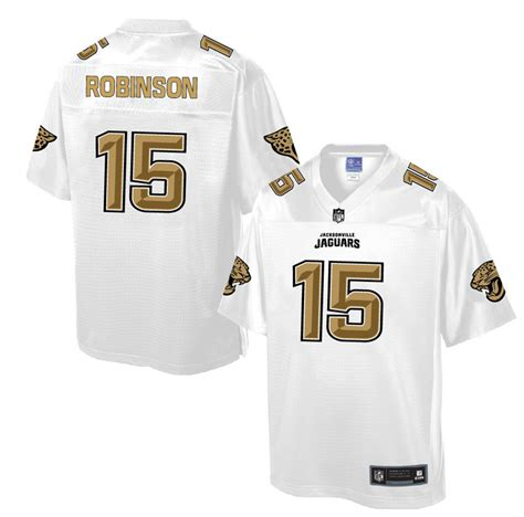 New Nike Jaguars 15 Allen Robinson Pro Line White Gold ...