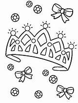 Crown Coloring Princess Tiara Pages Diamond Template Drawing Easy Royal King Printable Heart Getdrawings Netart Getcolorings Library Medieval sketch template