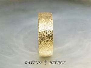 thick gold wedding band – chunky gold ring, 7mm wide ...