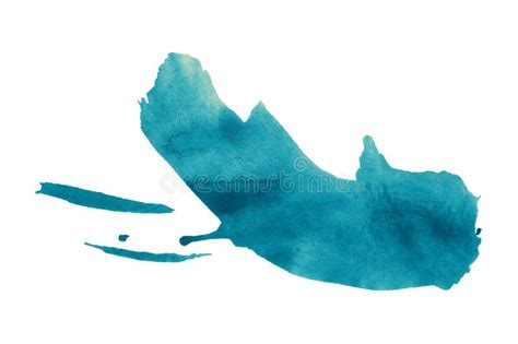 Abstract Blue Watercolor Background Colorful Aquarelle
