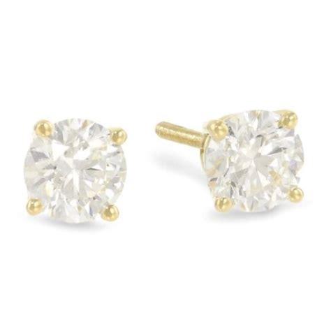 carat gia certified solitaire diamond stud earrings