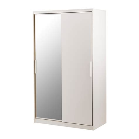morvik wardrobe white mirror glass ikea