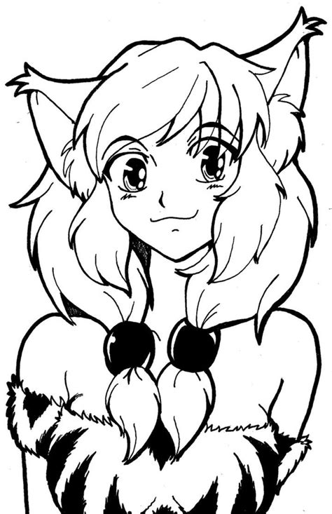 pics  cute anime cat girls coloring pages cute anime chibi coloring home