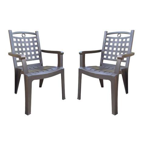 lot de 2 fauteuils bronze bora de grosfillex oogarden france