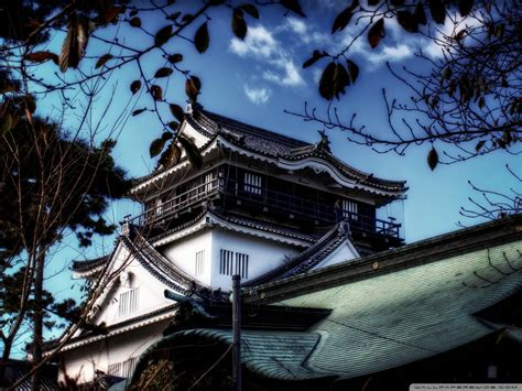 view  okazaki castle ultra hd desktop background
