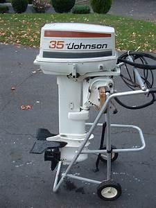 1979 Johnson 35 Hp Long Shaft-runs Fantastic--