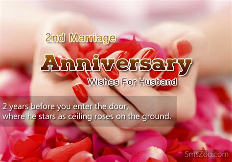 Happy 2nd Wedding Anniversary To My Husband Quotes Image
