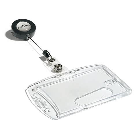 fourniture bureau durable boîte de 10 porte badges de sécurité avec