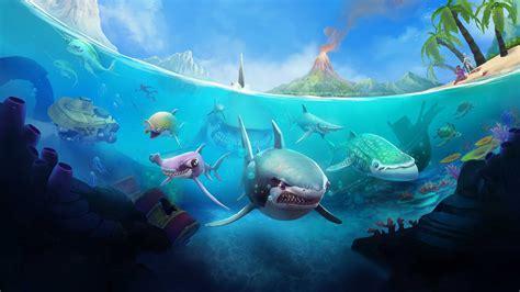 wallpaper hungry shark world ios android shark games