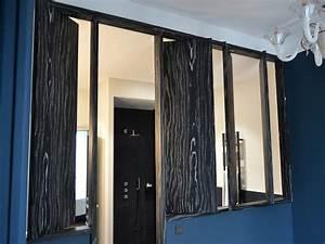 meuble dentree avec porte derobee ateliers courtois With porte d entrée pvc avec miroir salle de bain prise intégrée