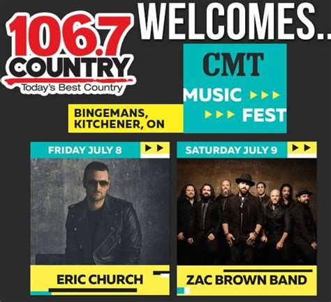 Eric Church And The Zac Brown Band Coming To Kitchener