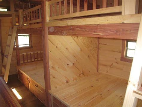 trophy amish cabins llc    bunkhouse cabinshown   hunter model