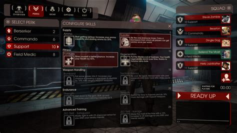 killing floor 2 perks killing floor 2 perks