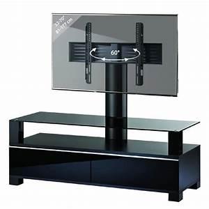 Meuble Avec Support Tv : meuble tv haut de gamme avec support ravano noir rack ~ Dailycaller-alerts.com Idées de Décoration