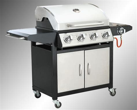 profi edelstahl bbq gasgrill gas grill station grill mit seitenbrenner 4 1 ebay