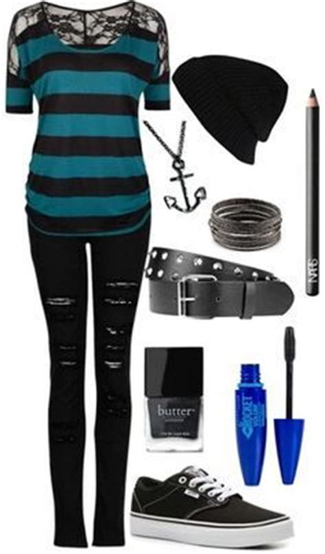 Simple gender neutral emo/ goth/ scene by xxmentalydeadxx on Polyvore featuring polyvore ...