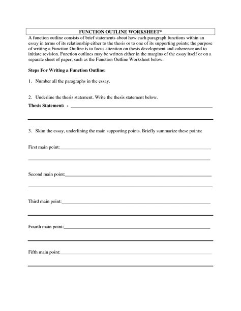 7 best images of printable outline for essay blank essay
