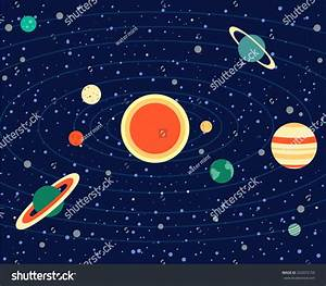 Solar System Vector Illustration Planets Sun Stock Vector ...