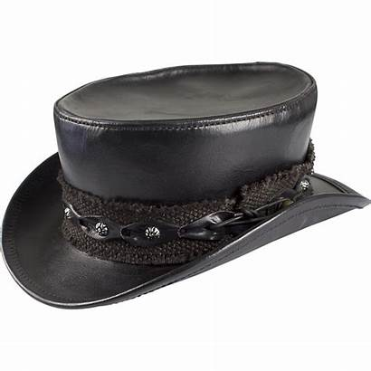 Hat Leather Brown Steampunk Hats Gothic Medieval