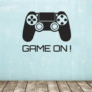 Game On ! wall sticker - games console controller decal