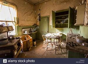 Old, Living, Room, In, Ghost, Town, Bodie, Stock, Photo