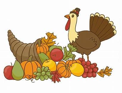 Thanksgiving Turkey Clipart Decoration Clip Cornucopia Happy