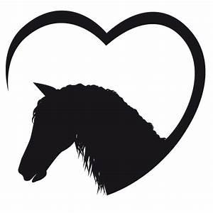 Pferdekopf mit Herz Wandtattoo