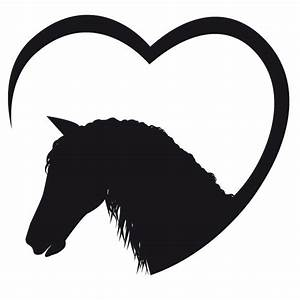 Pferdekopf Schwarz Weiß : pferdekopf mit herz wandtattoo ~ Watch28wear.com Haus und Dekorationen