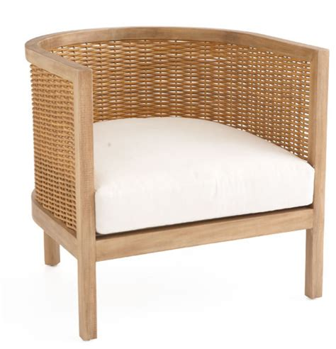woven rattan club chair tropical armchairs and accent