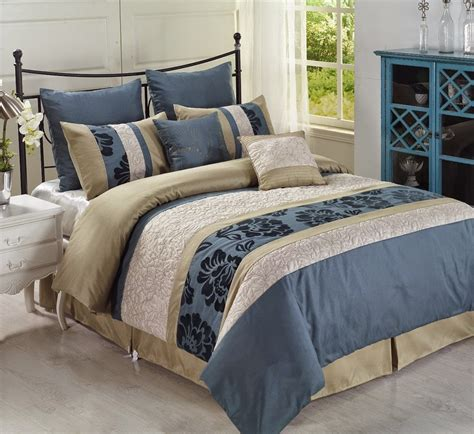 earth sky blue and beige comforters bedding sets