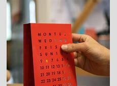 Perpetual Calendar by Block Design Milk