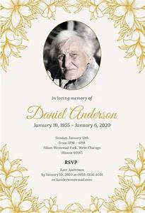 Floral Funeral Invitation Design Template In Word C Psd C Publisher