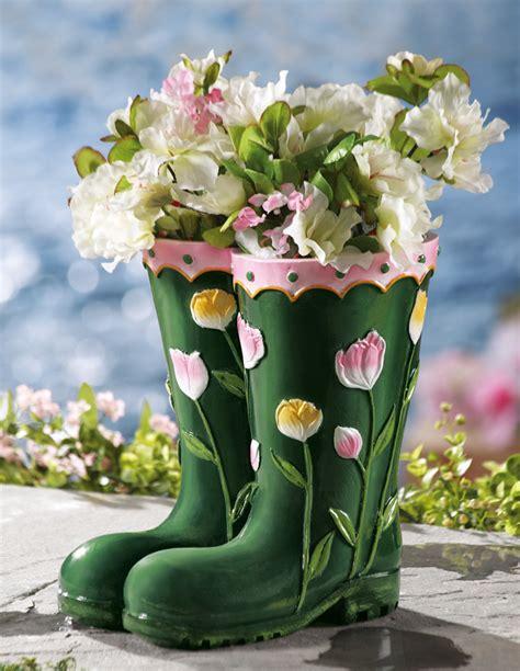 Collections Etc Rainboots Decorative Garden Planter Ebay