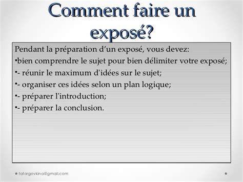 comment faire un expose