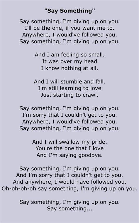 Say Something  A Great Big World & Christina Aguilera