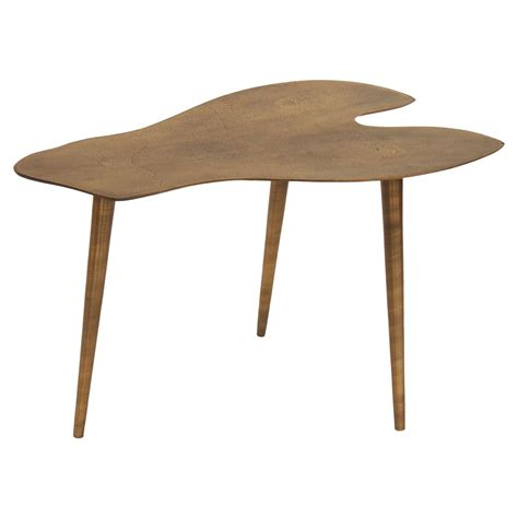 modern brass table l small low mid century modern brass finish metal side table