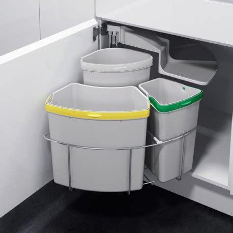 poubelle sous evier ikea poubelle tri s 233 lectif pivotante 3 bacs 39 litres