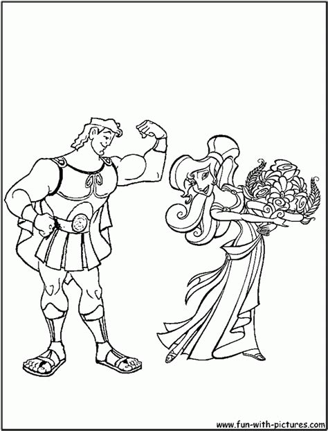 Kleurplaat Hercules by Hercules Disney Coloring Pages Coloring Home