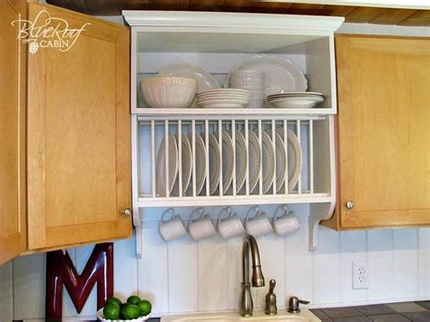 diy plate rack     stack  plates